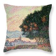 Forest Near St Tropez Throw Pillow by Paul Signac