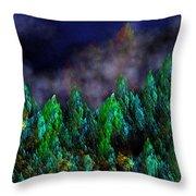 Forest Primeval Throw Pillow by David Lane