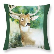 Forest Spirit Throw Pillow by Christie Michelsen