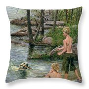 Forever-friends Throw Pillow by Doug Kreuger