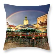 Forget Me Not Throw Pillow by Evelina Kremsdorf