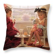 Formal Luncheon Throw Pillow by Greg Olsen