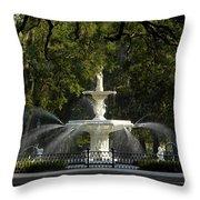 Forsyth Fountain 1858 Throw Pillow by David Lee Thompson