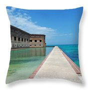 Fort Jefferson Dry Tortugas Throw Pillow by Susanne Van Hulst