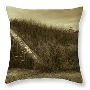 Fort Taber No. 1 Throw Pillow by David Gordon