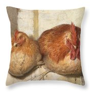 Forty Winks Throw Pillow by JG Marks