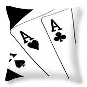 Four Aces I Throw Pillow by Tom Mc Nemar