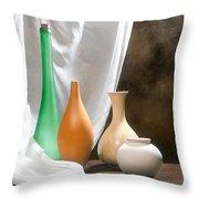 Four Vases I Throw Pillow by Tom Mc Nemar