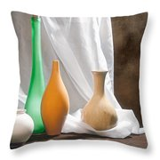 Four Vases II Throw Pillow by Tom Mc Nemar