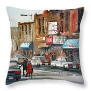 Fox Theater - Steven's Point Throw Pillow by Ryan Radke