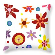 Fragrant Folly White Throw Pillow by Ruth Palmer