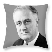 Franklin Delano Roosevelt Throw Pillow by War Is Hell Store