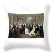 Franklin's Reception At The Court Of France Throw Pillow by War Is Hell Store