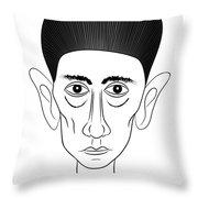 Franz Kafka Throw Pillow by Michal Boubin