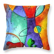 Free At Last Original Art By Madart Throw Pillow by Megan Duncanson