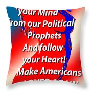 Freedom Throw Pillow by Tbone Oliver