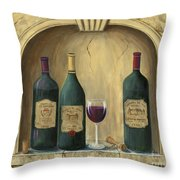 French Estate Wine Collection Throw Pillow by Marilyn Dunlap