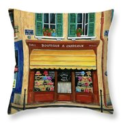 French Hats And Purses Boutique Throw Pillow by Marilyn Dunlap