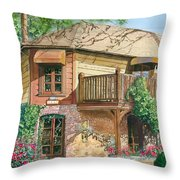 French Laundry Restaurant Throw Pillow by Gail Chandler