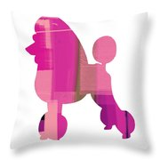 French Poodle Throw Pillow by Naxart Studio