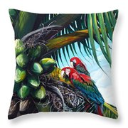 Friends Of A Feather Throw Pillow by Karin  Dawn Kelshall- Best