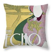 Front Cover Of The Echo Throw Pillow by William Bradley