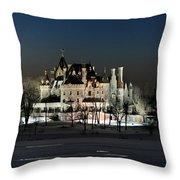 Frozen Boldt Castle Throw Pillow by Lori Deiter