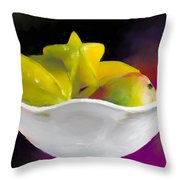 Fruit Bowl Throw Pillow by Michelle Wiarda
