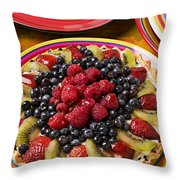 Fruit Tart Pie Throw Pillow by Garry Gay