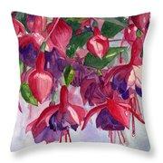 Fuchsia Frenzy Throw Pillow by Lynne Reichhart