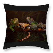 Full House Throw Pillow by Barbara Keith