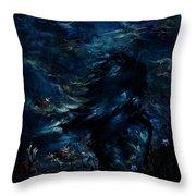 Full Moon Throw Pillow by Rachel Christine Nowicki