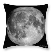 Full Moon Throw Pillow by Roth Ritter