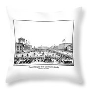 Funeral Obsequies Of President Lincoln Throw Pillow by War Is Hell Store