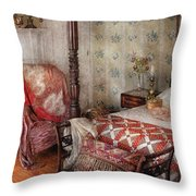 Furniture - Bedroom - A place to sleep Throw Pillow by Mike Savad