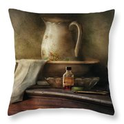 Furniture - Table - The Water Pitcher Throw Pillow by Mike Savad