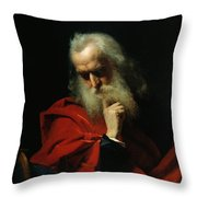 Galileo Galilei Throw Pillow by Ivan Petrovich Keler Viliandi