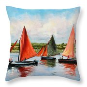 Galway Hookers Throw Pillow by Conor McGuire