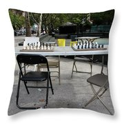 Game Of Chess Anyone Throw Pillow by Terry Wallace
