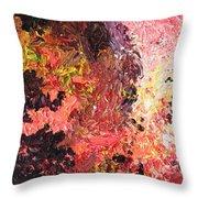 Ganesh In The Garden Throw Pillow by Ralph White