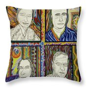 Gang Of Four Throw Pillow by Robert SORENSEN