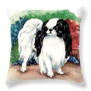Garden Chin Throw Pillow by Kathleen Sepulveda