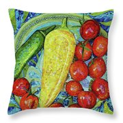 Garden Harvest Throw Pillow by Shawna Rowe