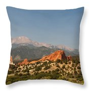 Garden Of The Gods Throw Pillow by Brian Harig