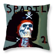 Gasparilla 2011 Work Number Two Throw Pillow by David Lee Thompson