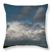 Gathering clouds Throw Pillow by Marion Galt