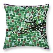 Gecko Throw Pillow by Jamie Frier