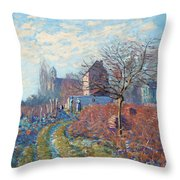 Gelee Blanche Throw Pillow by Alfred Sisley
