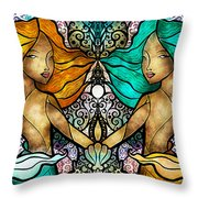 Gem And I Throw Pillow by Mandie Manzano