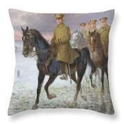 General John J Pershing  Throw Pillow by Jan van Chelminski